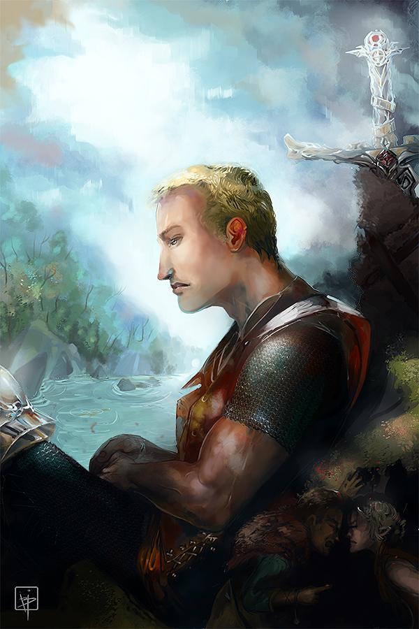 anebarone illustration - digital art painting with giant elf thieves and sword - Ilustração Para Histórias de Fantasia - com gigante ladrões élficos e espada