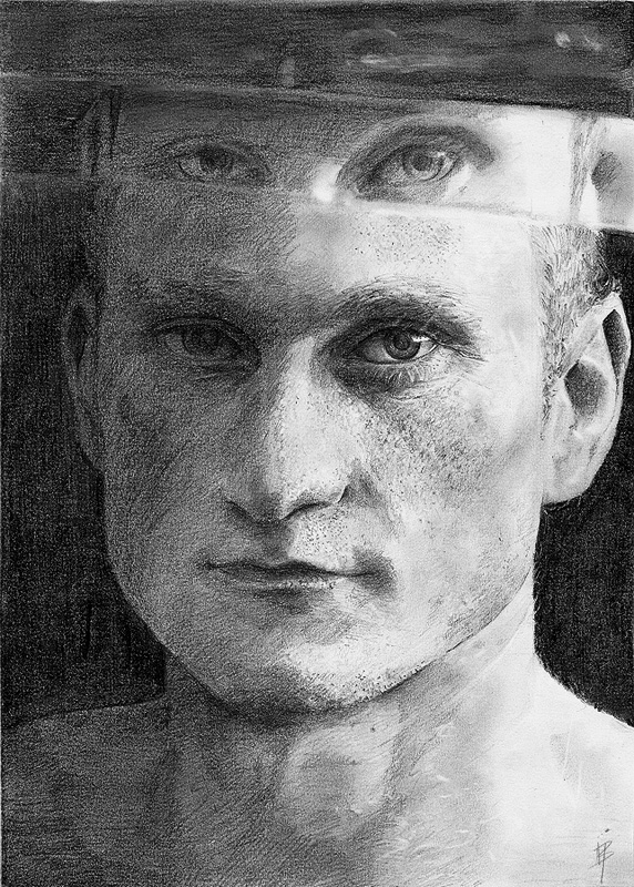 anebarone vishstudio male model drawing portrait pencils