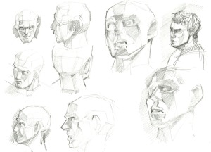 Anebarone-drawing-head-in-several-angles-studies