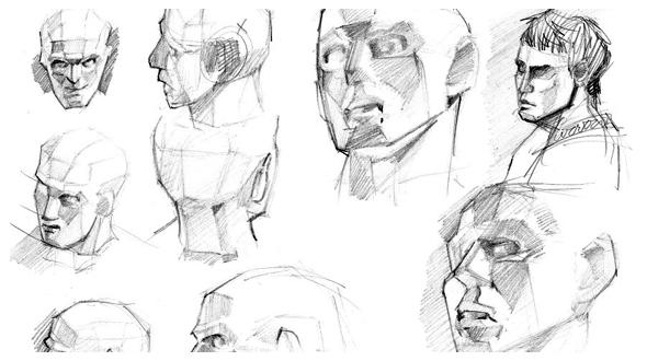 desenho - estudos de cabeças