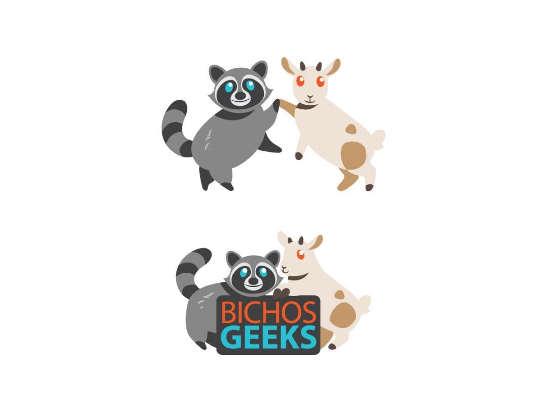 Guaxinim e cabra, os mascotes dos bichos geeks