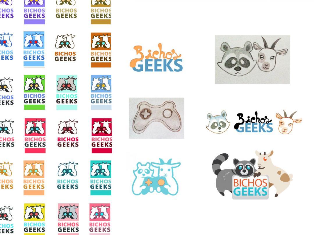 desenvolvimento e fases da identidade visual dos bichos geeks