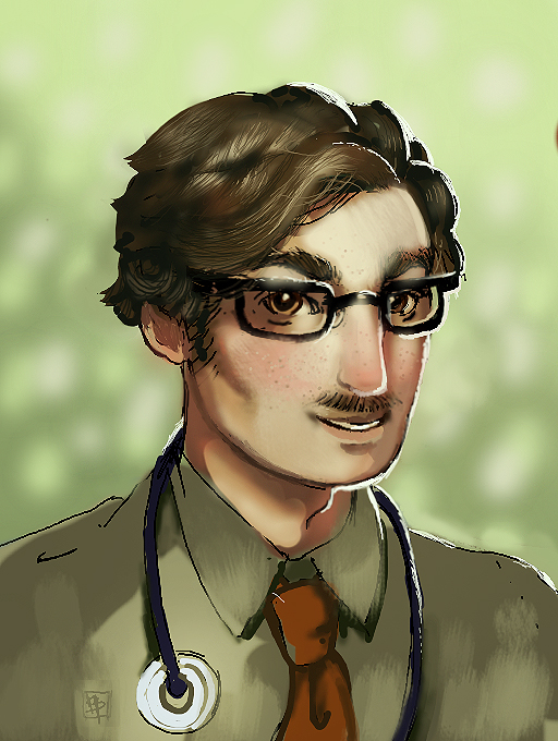 Stardew Valley Harvey fanart by Anebarone