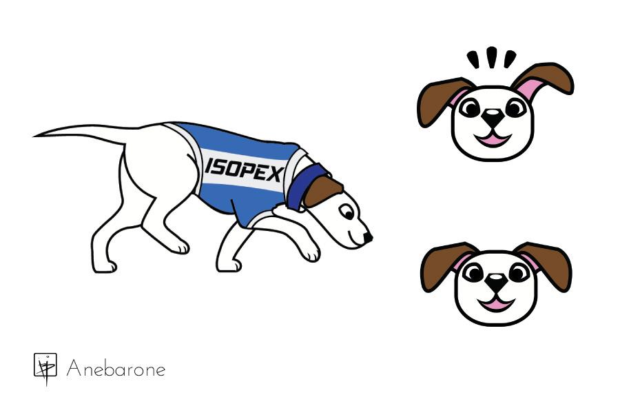Vetorização de cachorro feita em Adobe Illustrator